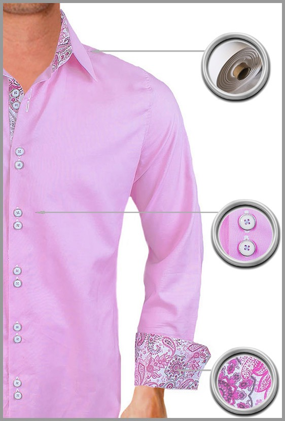 Pink Casual Dress Shirts