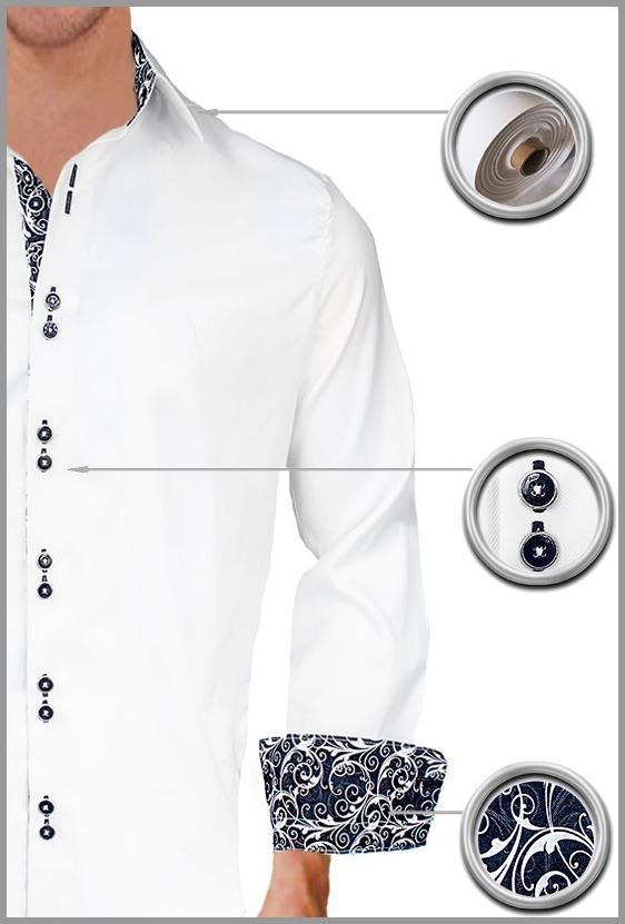 White Black Dress Shirts