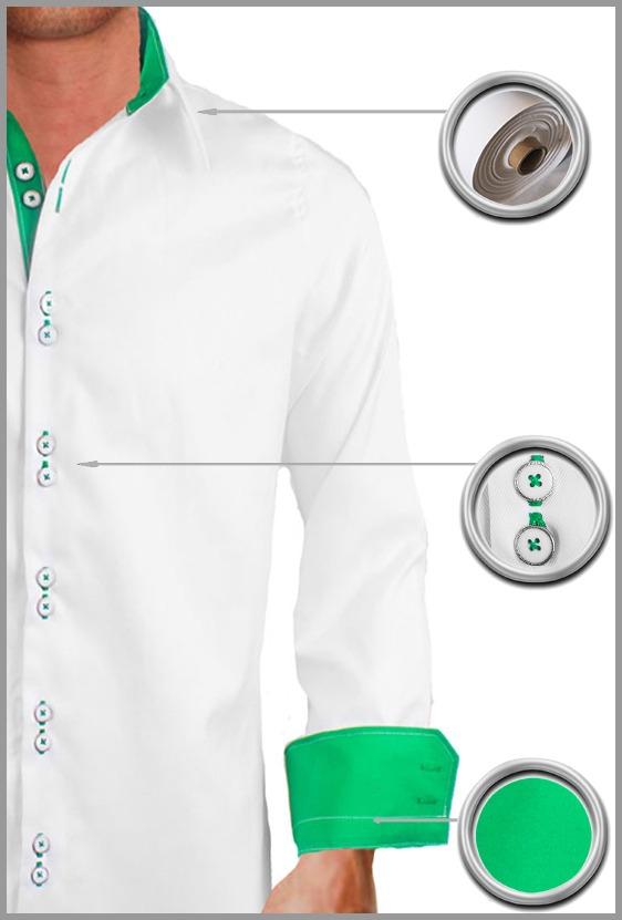 White Custom Dress Shirts