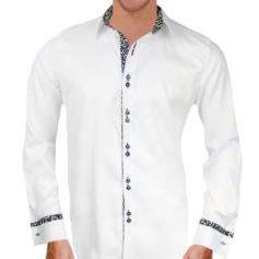 White Gold French Cuff Shirts
