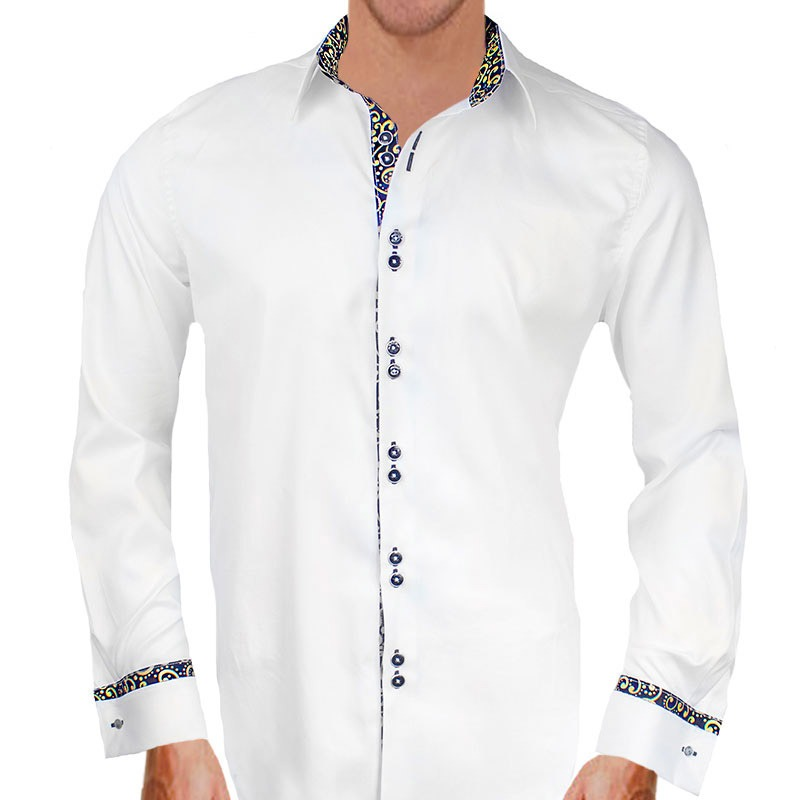 White Gold French Cuff Shirts