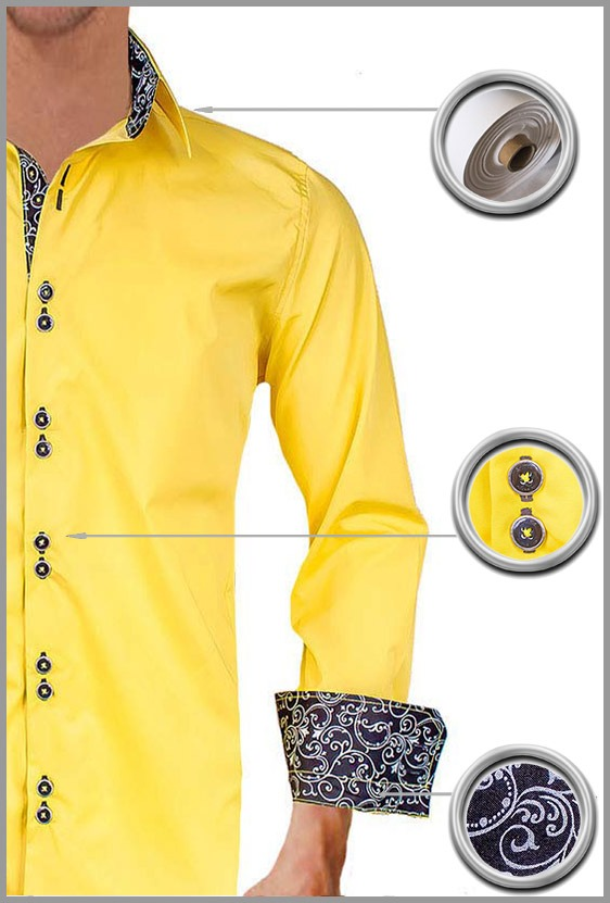Yellow Casual Dress Shirts