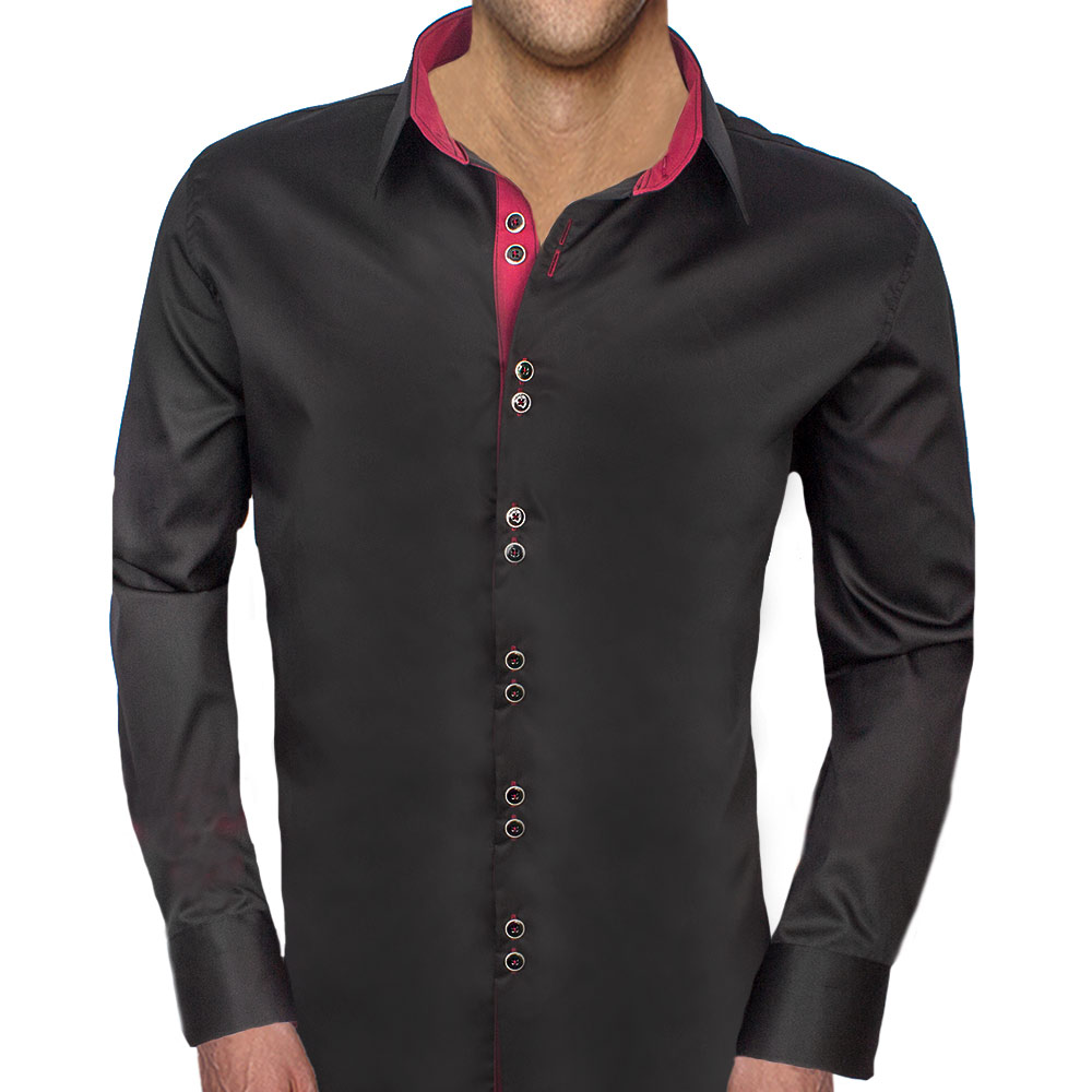 Black and Maroon Dress Shirts