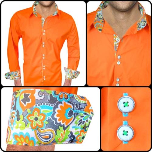 Bright Orange Dress Shirts