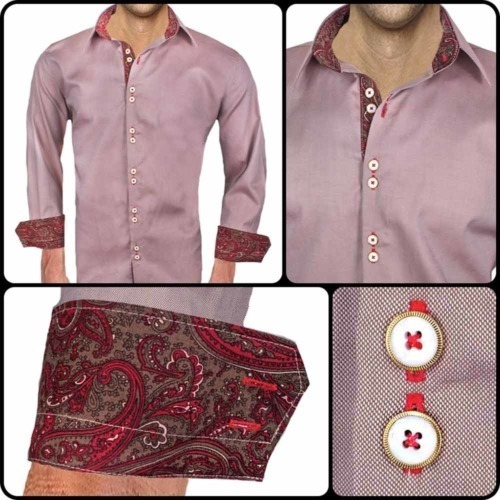 Brown and Red Casual Shirts