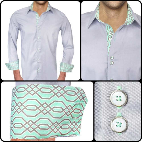 Gray and Seafoam Dress Shirts