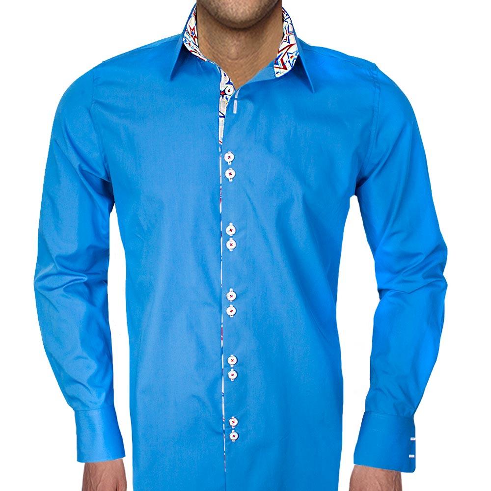 Dress shirt with stars for Blue white dress shirt