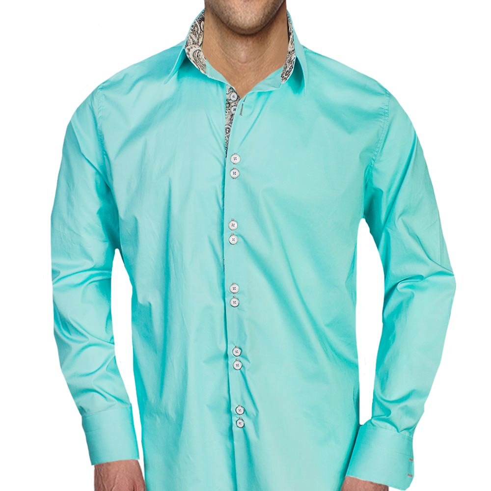 Teal and Black Dress Shirts