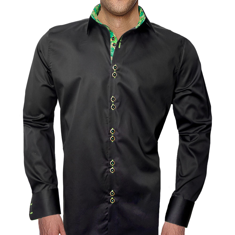 Black St Patricks Day Casual Shirts