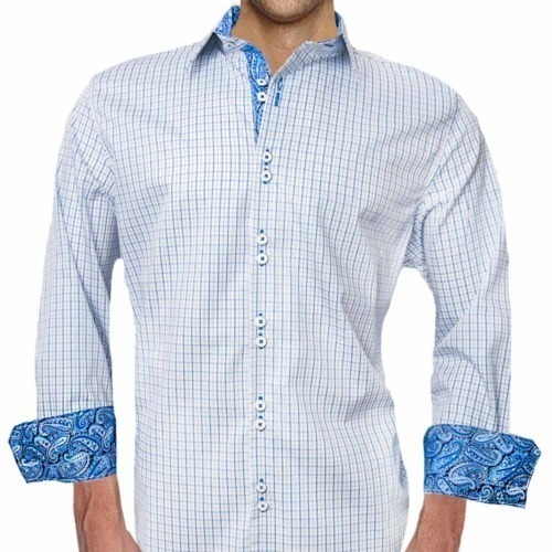 Blue Paisley Casual Shirts