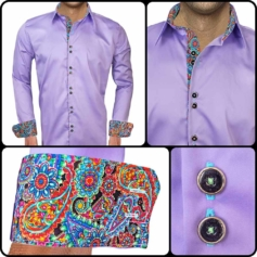 Light Purple Casual Shirts