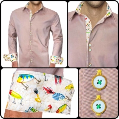 Fishing Themed Dress Shirts