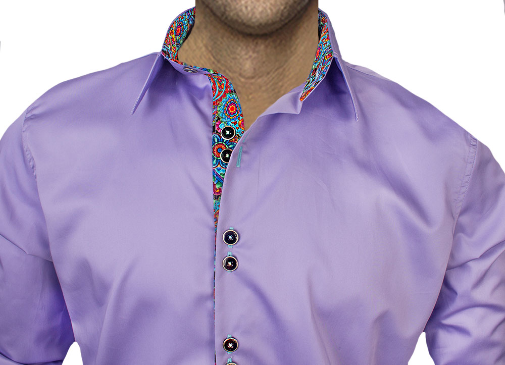Light Purple Casual Shirts