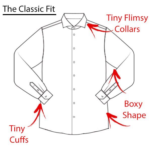 What is a modern fitting dress shirt