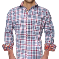 Plaid Casual Dress Shirts