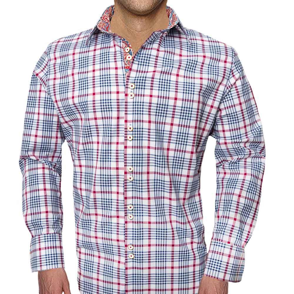 Plaid Casual Dress Shirts