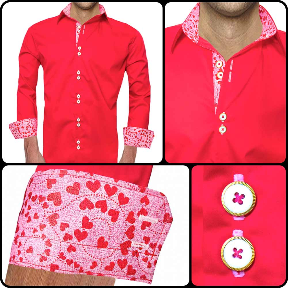Red Valentines Day Dress Shirts