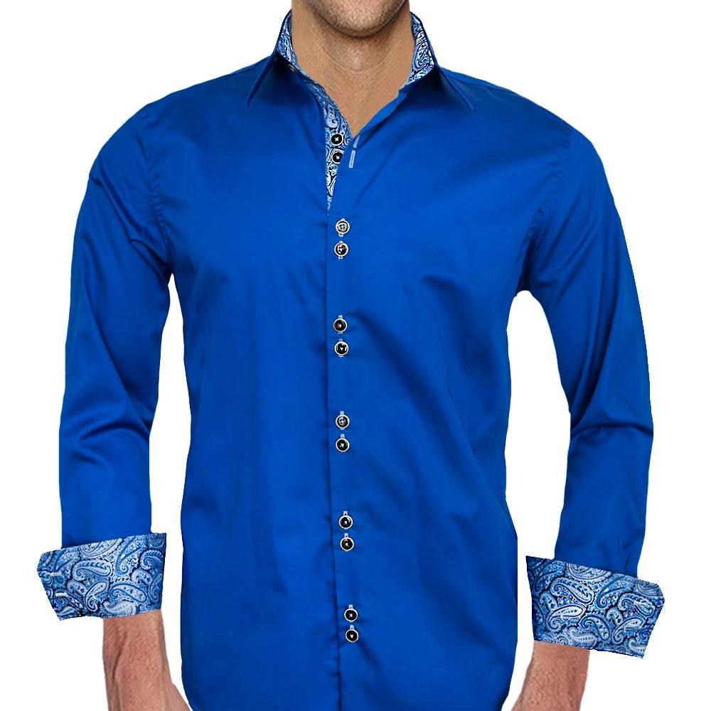 Dark-Blue-Paisley-Dress-Shirt