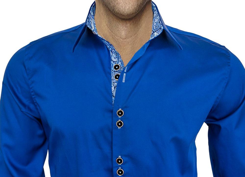 Dark-Blue-Paisley-Shirts