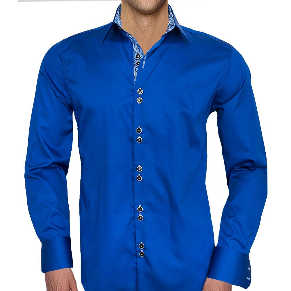Navy-Blue-Paisley-Dress-Shirts