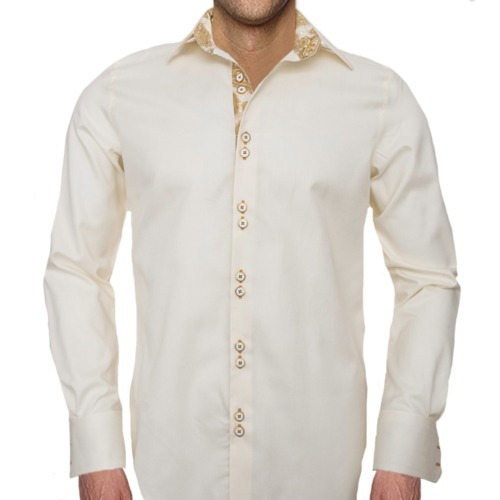 Tan-and-Gold-Accent-Dress-Shirts