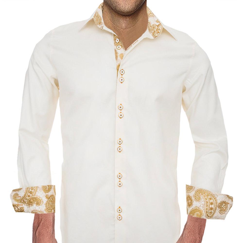 Cream-and-Gold-Dress-Shirts