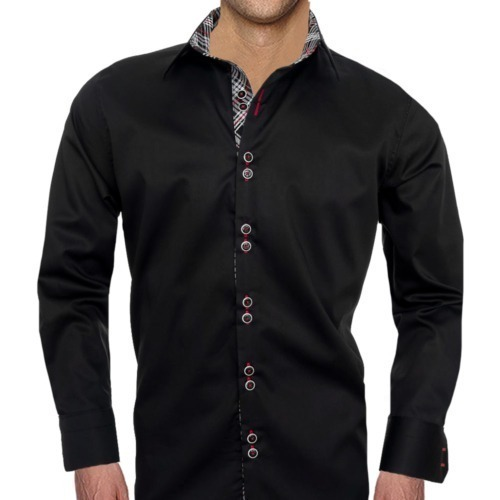 Black-Plaid-Dress-Shirts