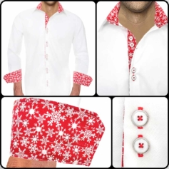 Christmas Dress Shirts Mens