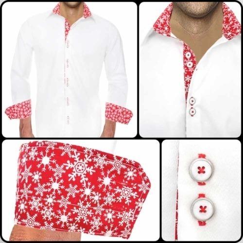 Christmas Dress Shirts Mens