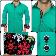 Green Christmas Shirts Mens