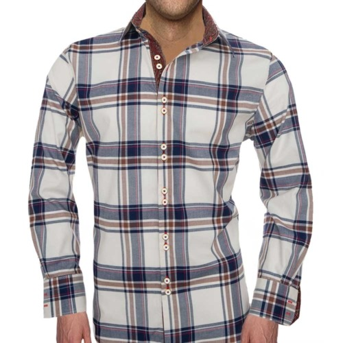 Navy Plaid Shirts