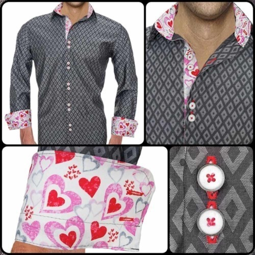 Dress-Shirts-with-Hearts-on-Cuffs