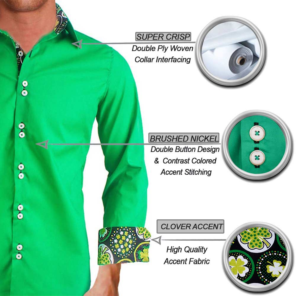Green St Patricks Day Dress Shirts
