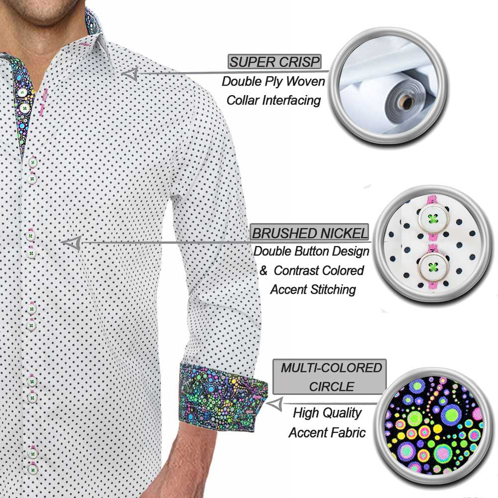 9dd000a00f7 Fun Polka Dot Mens Shirts