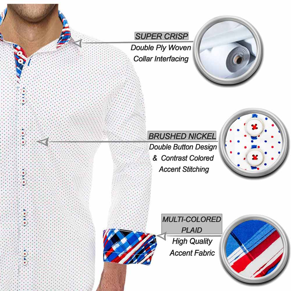 Red White and Blue Casual Shirts