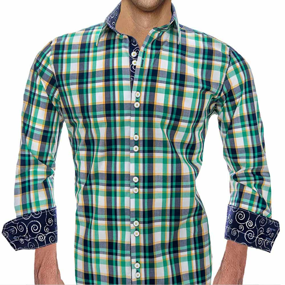 Designer Plaid Dress Shirts