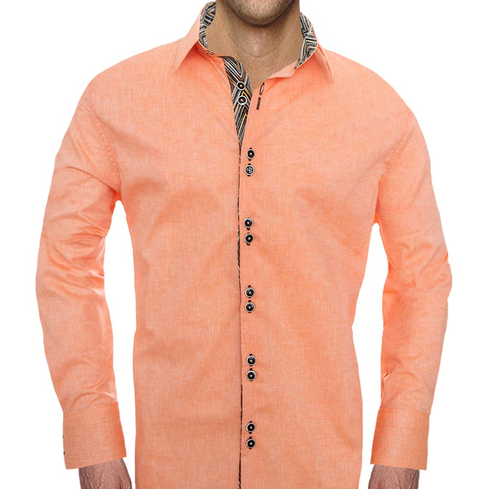 Modern Orange Casual Shirts