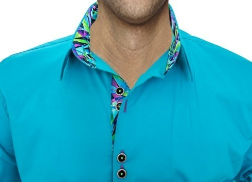 Bright Turquoise Dress Shirts