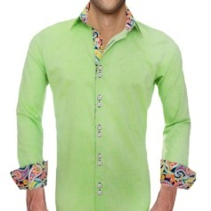 Lime Green Designer Mens Shirts