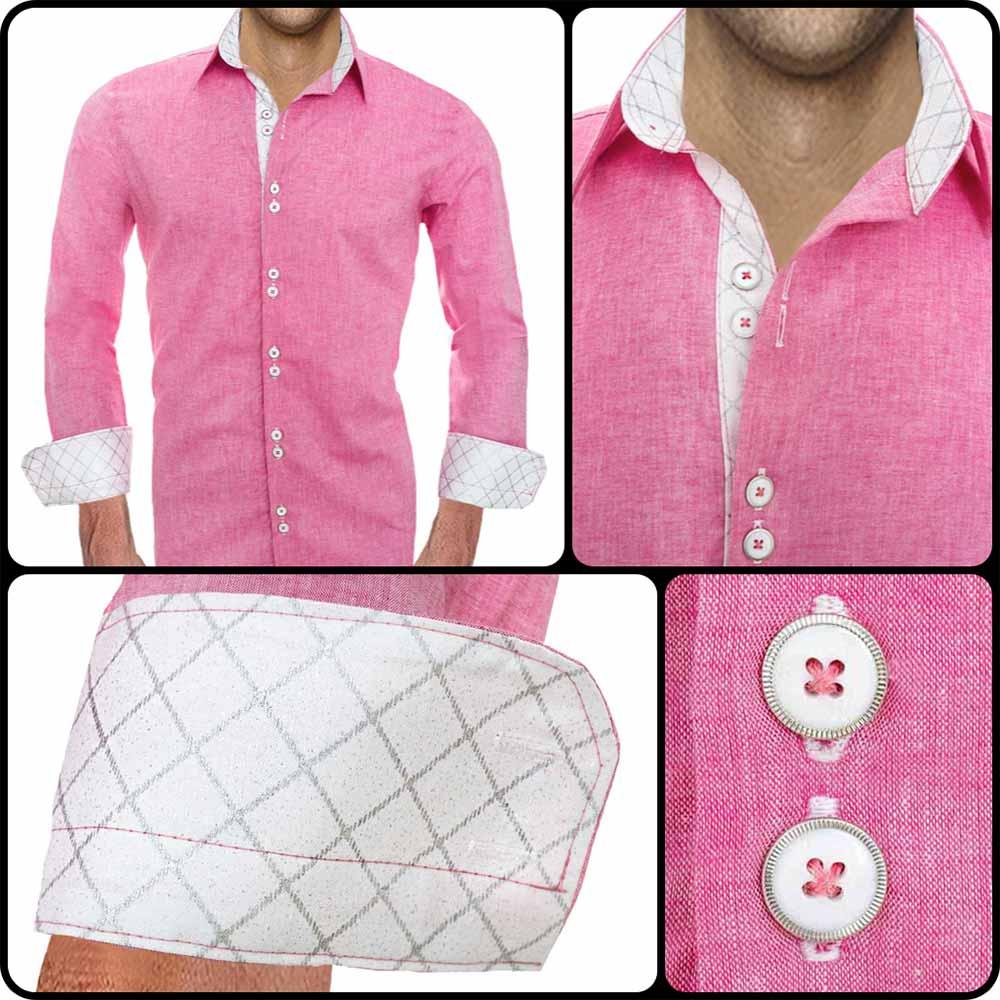 Pink Designer Dress Shirts
