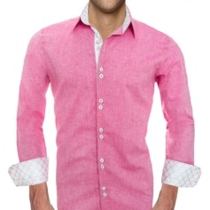 Pink Designer Dress Shirts