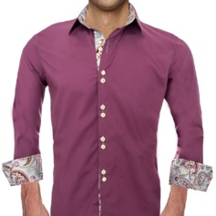 Plum and Pink Dress Shirts