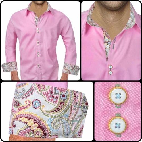 Pink Paisley Mens Shirts